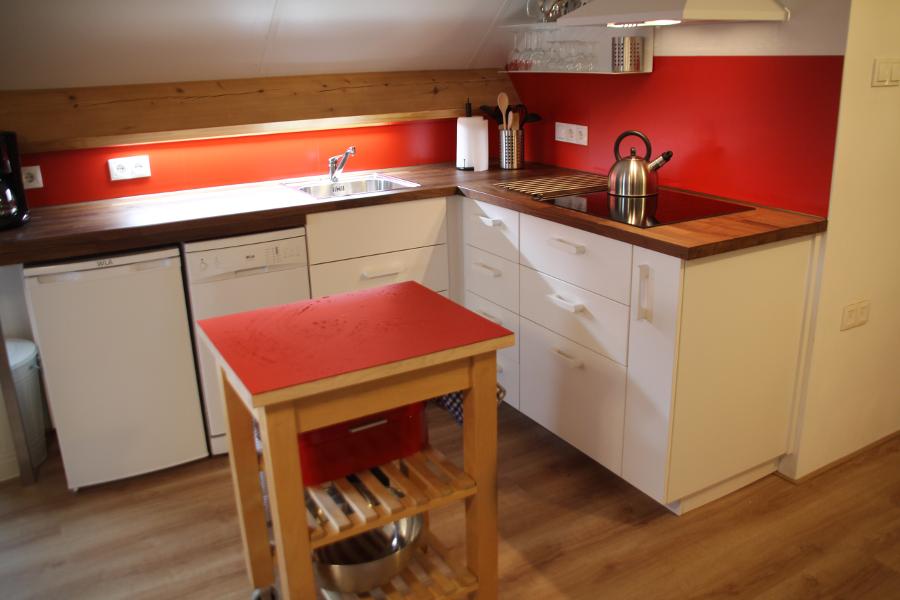 De keuken van het appartement De Waanhoeve