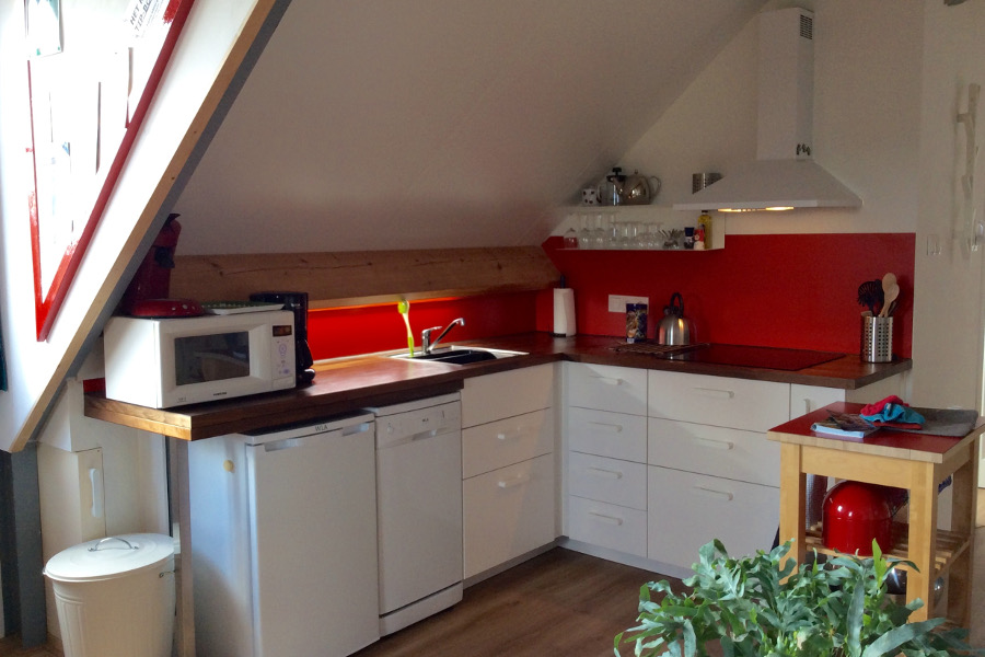 Keuken vakantiewoning De Waanhoeve